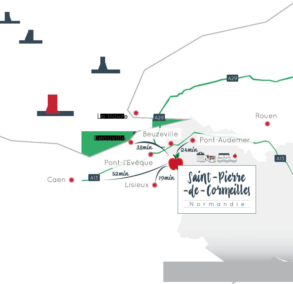 Carte de situation Saint Pierre de Cormeilles